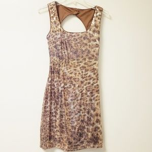 CACHE GOLD SEQUIN DRESS